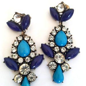 Victorian Style Rhinestone & Acrylic Bead Earrings